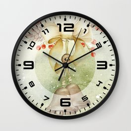 Christmas vintage bell Wall Clock