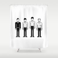 joy division Shower Curtains featuring Joy Division by Band Land