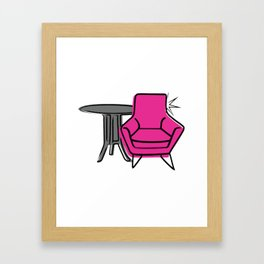 Table & Chairs 04 Framed Art Print