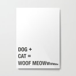 DOG + CAT Metal Print