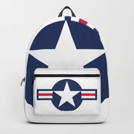 US Airforce style roundel star - High Quality image Backpack