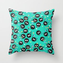 Soot Balls with Candy Throw Pillow