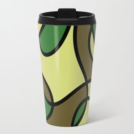 Camo Curves - Abstract, camouflage coloured pattern Travel Mug