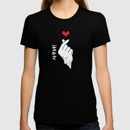 K-pop Finger Heart | Saranghae T-shirt