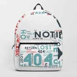 404 Error Page Text In Stop Sign Backpack