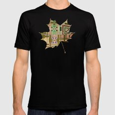 Autumn X-LARGE Mens Fitted Tee Black