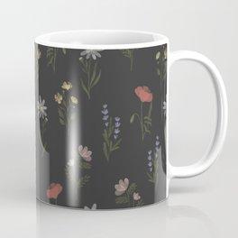 Midsummer Night| Wildflower Meadow Pattern | Black Coffee Mug