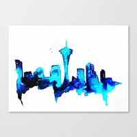 seattle Canvas Prints featuring Seattle  by Talula Christian