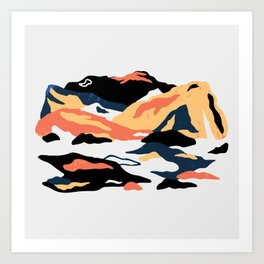 Abstract Mountain Collage Art Print