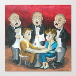 The Singing Waiters Canvas Print