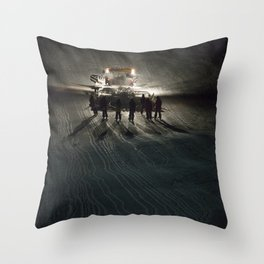Epic cat light at Nine Knights 2014 Throw Pillow