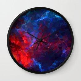 Geometric red galaxy Wall Clock