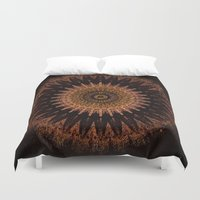 black and gold Duvet Covers featuring Gold by Jane Lacey Smith