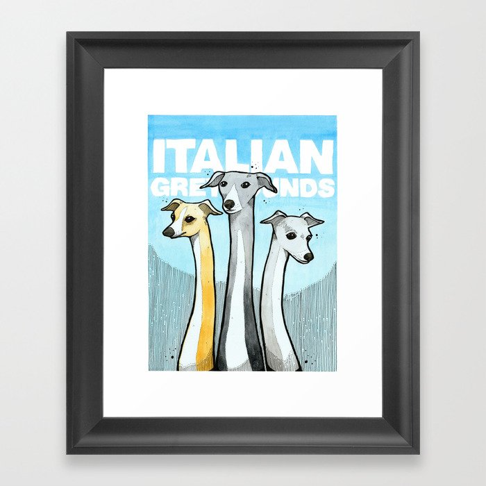 Italian Greyhounds Framed Art Print