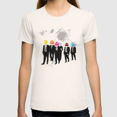 Reservoir Ghosts Womens Fitted Tee SMALL Natural