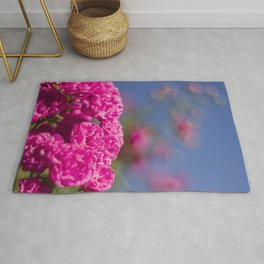 Bush of pink purple rose Rug