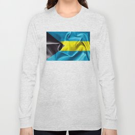 Bahamas Flag Long Sleeve T-shirt
