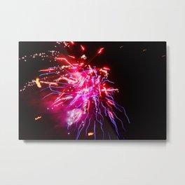 Electro Thai Fireworks Metal Print