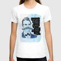 nietzsche T-shirts featuring Nietzsche and the Abstract Truth - Watercolor Version by Alexandra Ensign