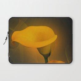 Calla Lily Warm Yellow Mist Background Laptop Sleeve