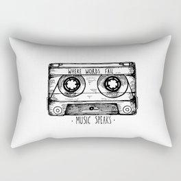 Where Words Fail, Music Speaks Rectangular Pillow