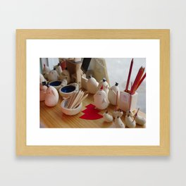 Cute Features Framed Art Print