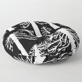 Araucarias Blancas Floor Pillow