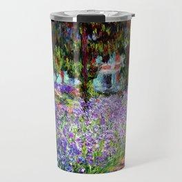 "Claude Monet ""Irises in Monet's Garden at Giverny"", 1900 Travel Mug"
