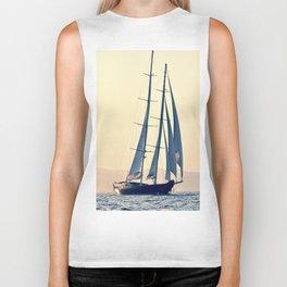 beautiful big sailboat Biker Tank