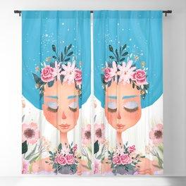 floral tea cup Blackout Curtain
