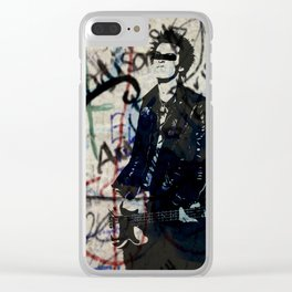 Graffitied - Punk Vicious Clear iPhone Case