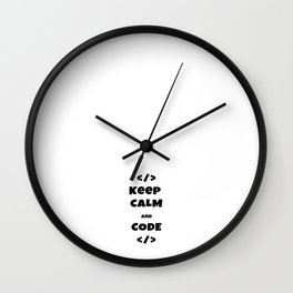 keep calm and code Wall Clock