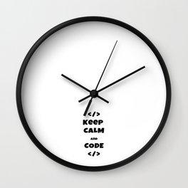 keep calm and code Wall Clock