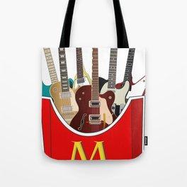 Maniac Donald's guitar potato Tote Bag