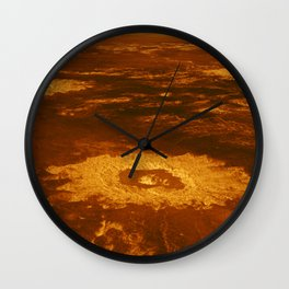 Venus - 3-D Perspective View of Lavinia Planitia | Spacer Collection Wall Clock