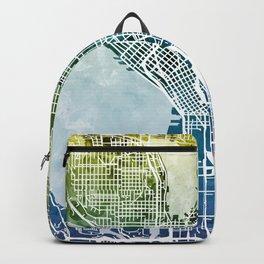 Seattle Washington Street Map Backpack