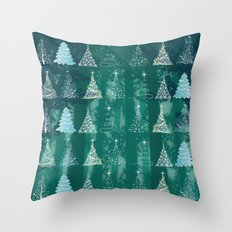 Christmas tree in the forest Throw Pillow
