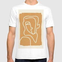 Abstract Minimal Woman Portrait 2 T-shirt