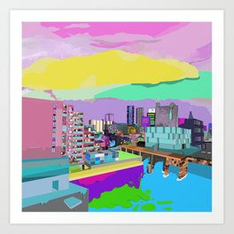 Technicolour Toyosu Art Print