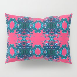 Blue and Pink Kaleidoscope Pattern Pillow Sham