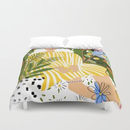 The Jungle Lady Duvet Cover