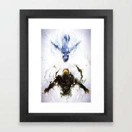 Who's the Machine? Framed Art Print