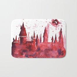 Hogwarts Watercolor Silhouette Bath Mat