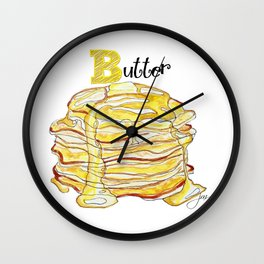 B is for Butter Wall Clock