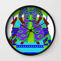 wizard Wall Clocks featuring Wizard by Samuel Bell