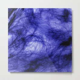 PURPLE INDIAN INK IN WATER Metal Print