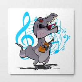 T-Rex on the Ukulele Metal Print
