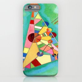 Wassily Kandinsky Multi Colored Triangle iPhone Case