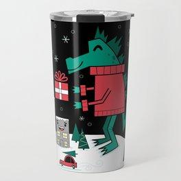 Kaiju Christmas Travel Mug