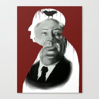 hitchcock Canvas Prints featuring Hitchcock by FlacoGarcia